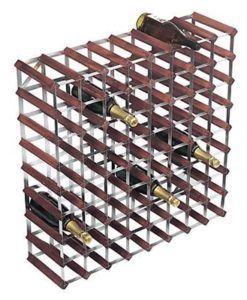 Wijnrekken van hout en staal voor 72 flessen