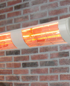 Terrasstraler Vict 3000 of 4000W in wit, zwart of zilver, Gold lamp
